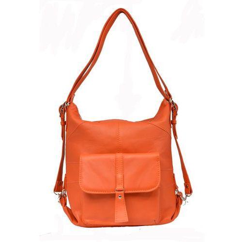 Shopper bag 2w1 pomarańczowy