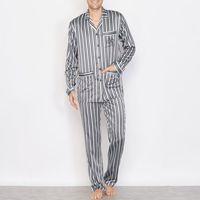 Satynowa piżama w paski z długim rękawem, R essentiel