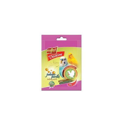 vitaline jodowe perełki dla papużki falistej 20x20g marki Vitapol