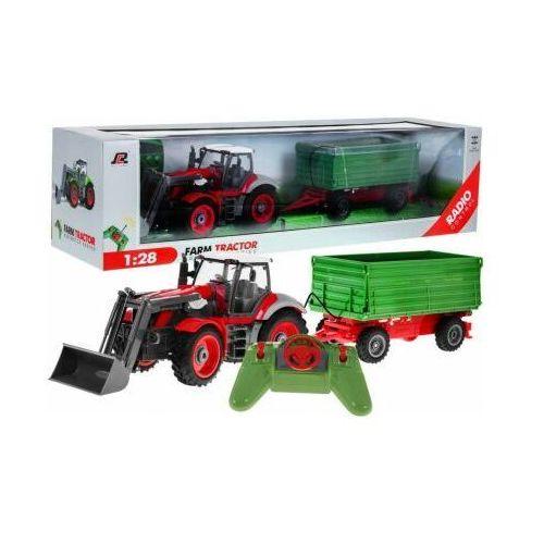 ZESTAW FARMERA: Duży Zdalnie Sterowany Traktor z Przyczepą (1:28) + Pilot Radiowy.