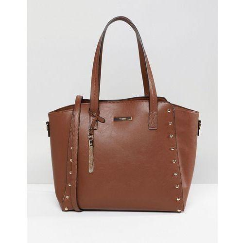 dancy tote bag with gold stud detailing - tan marki Dune
