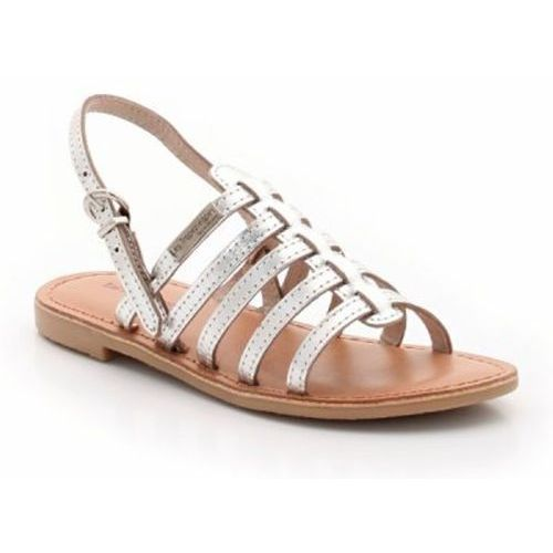 Sandały skórzane z paskami, Mangue