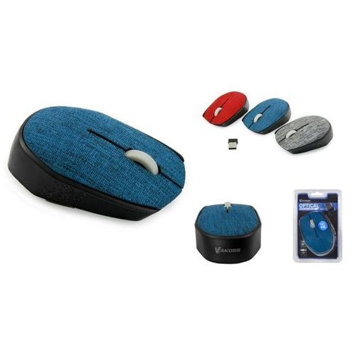 Mysz optyczna bezprzewodowa VAKOSS TM-662B kolor niebieski, TM-662B