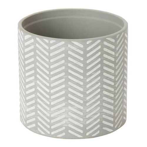 Goodhome Doniczka ceramiczna c21 ozdobna 12 cm szara