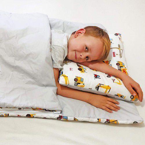 Bubaland Śpiworek przedszkolaka 100% bawełna koparki + worek (5902211626947)