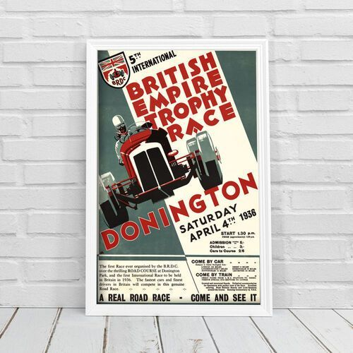 Plakat vintage do salonu Plakat vintage do salonu Grand Prix British Empire Trophy Race