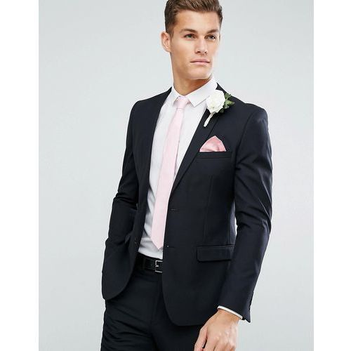 skinny wedding suit jacket in black - black, French connection