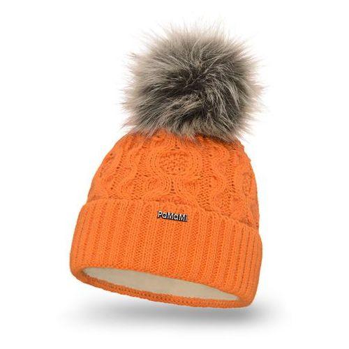 Zimowa czapka damska PaMaMi - Pomarańczowy - Pomarańczowy