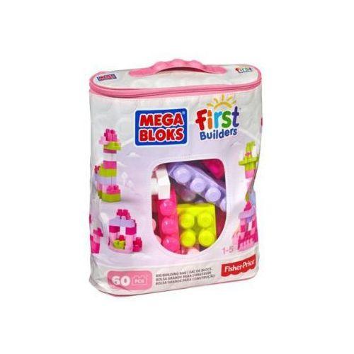 Mattel Mega Bloks Klocki 60el Torba First Biulders rózowa
