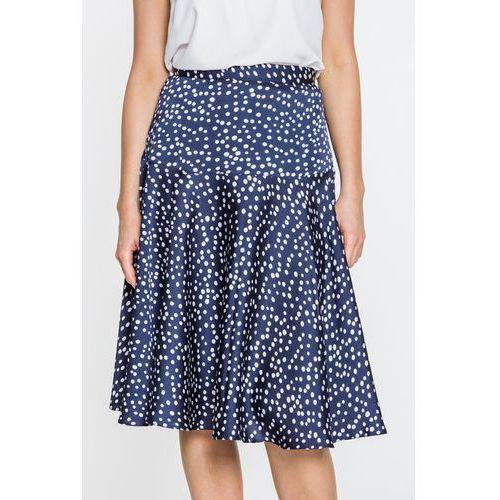 Granatowa spódnica w żurawie - Duet Woman, 1 rozmiar