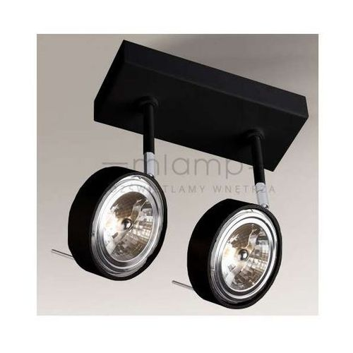 Plafon lampa sufitowa fussa 2219/gu10/cz metalowa oprawa reflektorowa spot regulowany czarny marki Shilo