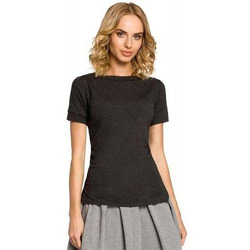 Moe Klasyczny t-shirt z krótkimi rękawami 171 grafitowy