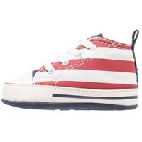 Converse CHUCK TAYLOR FIRST STAR Obuwie do raczkowania white/garnet/athletic navy, 861020C