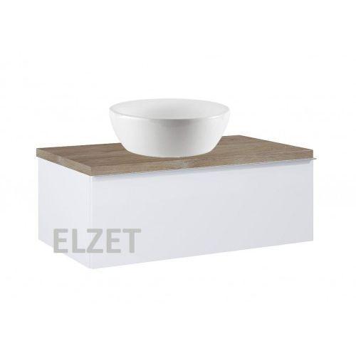ELITA szafka Look 1S white matt pod umywalkę nablatową + blat 80 dąb classic 167594+166899, kolor biały