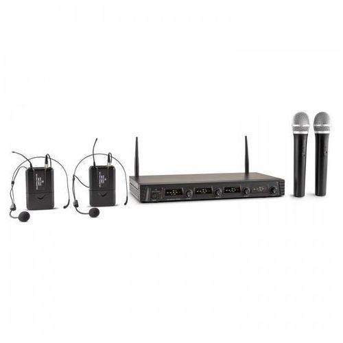 Duett Pro V2 4-kanałowy bezprzewodowy zestaw mikrofonowy UHF zasiM