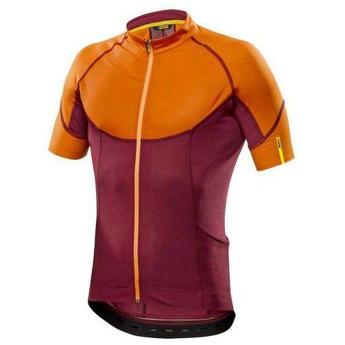 Męska koszulka ksyrium pro jersey red/george orange rozmiar m marki Mavic