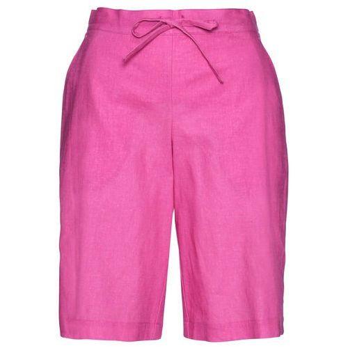 Szorty z koronką bonprix morski, kolor różowy