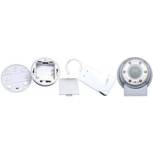 Maclean lampa led z sensorem ruchu, magnes, stojak, haczyk czas świecenia 20s 60s 90s 4xaaa energy mce02 (5901549689617)
