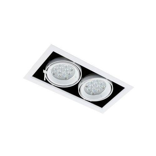 Spot LAMPA sufitowa VERNELLE TG0004-2 Italux metalowa OPRAWA LED 24W prostokątny PLAFON biały