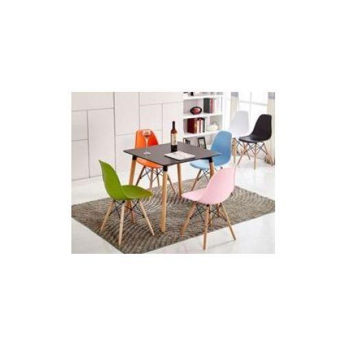 """Zestaw 4 krzeseł """"monza""""- szare z bukowymi nogami marki Pozostali"""