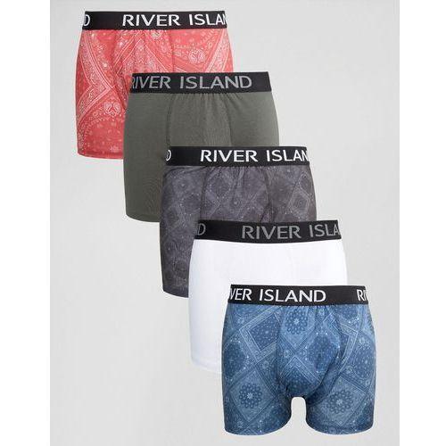 River Island Pants With Bandana Print In Navy 5 Pack - Navy z kategorii Pozostałe