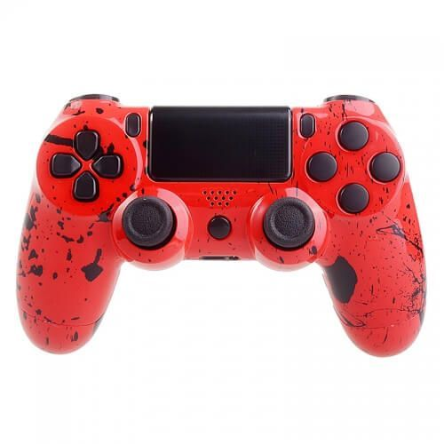 Custom controllers  playstation 4 controller - red splatter, kategoria: gamepady