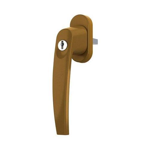 Klamka do okna z kluczykiem ze stopu aluminium - złoty marki Medos