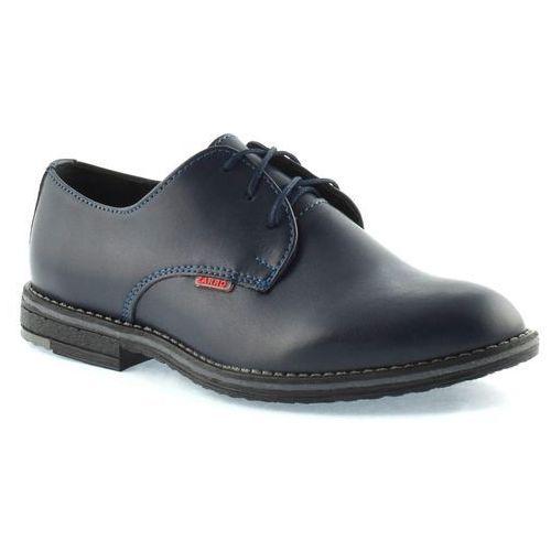 Granatowe buty komunijne dla chłopca 130/02 - granatowy marki Zarro