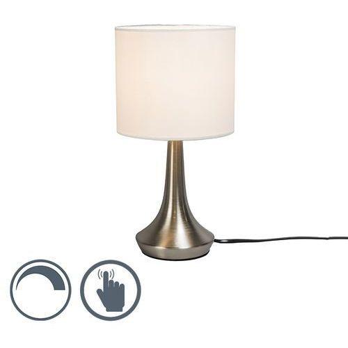 Qazqa Lampa stołowa milo 1 okrągła biała