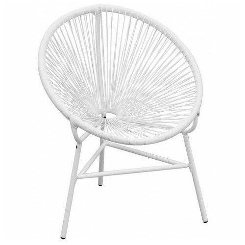 Krzesło ogrodowe corrigan - białe marki Elior