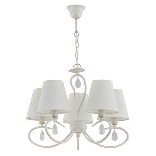 Lampa wisząca bali 18525.1013 white zwis 5x40w e14 shabby chic >>> rabatujemy do 20% każde zamówienie!!! marki Alfa