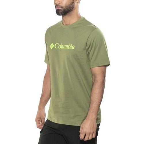 Columbia basic logo short sleeve tshirt z nadrukiem mosstone