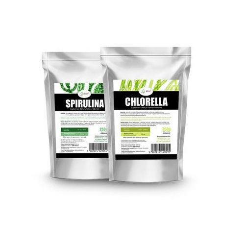 Tabletki Spirulina 250mg 1000 tabletek + Chlorella 250mg 1000 tabletek - Zestaw