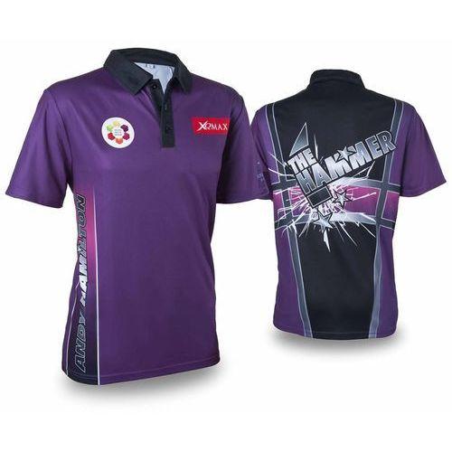 Xqmax darts replika koszulki meczowej andy'ego hamiltona, fioletowa, m