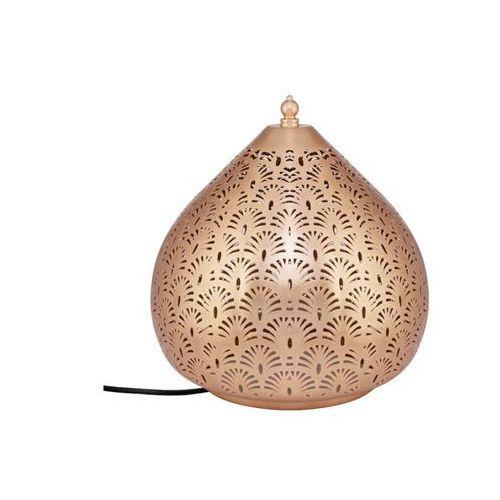 Vente-unique Lampa stojąca sichuan, ażurowa, styl etniczny – żelazo – średnica 30 cm – kolor miedziany