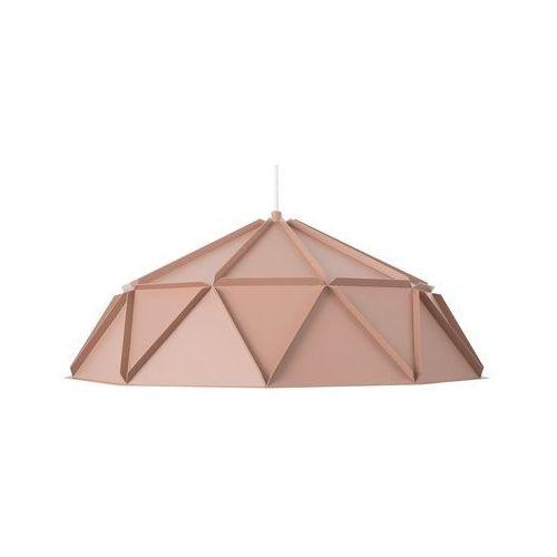 Beliani Lampa wisząca metalowa różowa senia