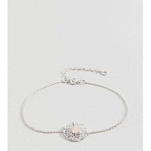 sterling silver faux rose quartz fine chain bracelet - silver marki Asos curve