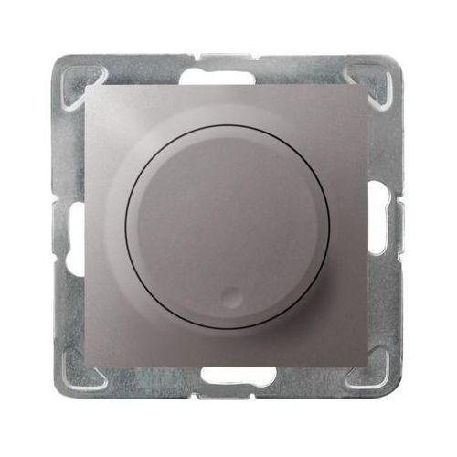 Ściemniacz uniwersalny Ospel Impresja ŁP-8YL2/M/23 do LED 0-100W do żarówek i halogenów 10-250W tytanowy (5907577478469)
