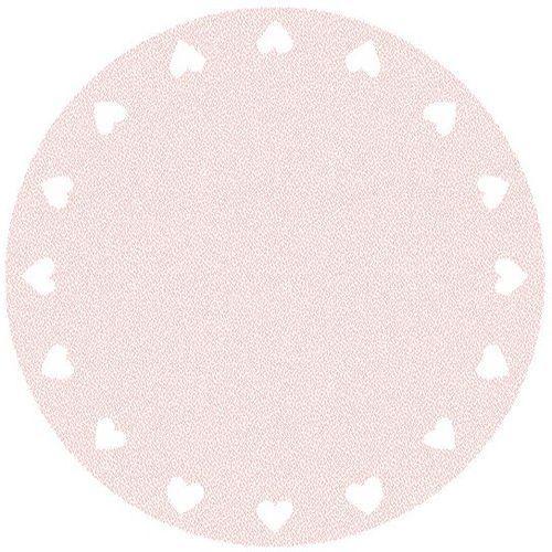 Agnella Dywan touch zimi róż (koło) 100x100