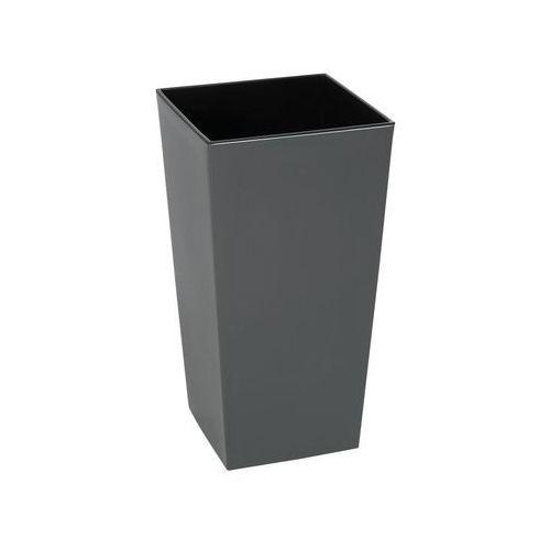 Doniczka plastikowa 25 x 25 cm antracytowa FINEZJA