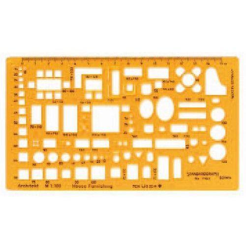 Szablon architektoniczny meble 1:100 x1 marki Szablony techniczne