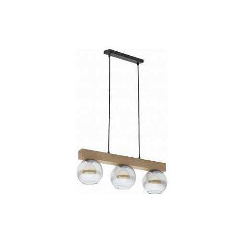 TK Lighting Artwood Glass 4254 Lampa wisząca zwis 3x60W E27 sosna/grafit (5901780542542)