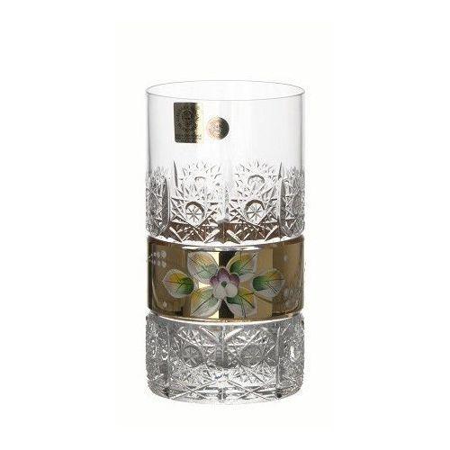 Caesar crystal 42770 szklanka złoto, szkło kryształowe bezbarwne, objętość 350 ml