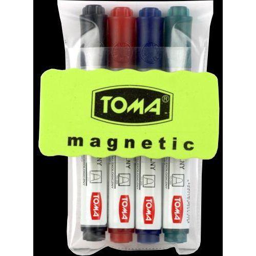 Zestaw do tablic suchościeralnych  to-266 (4 markery+ścierak), marki Toma