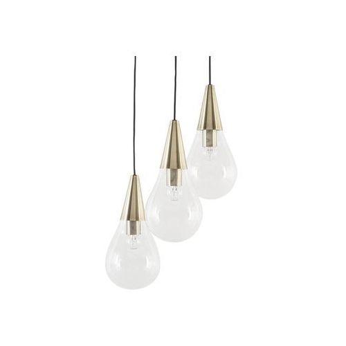 Beliani Lampa wisząca szklana miedziana/przezroczysta vesle (4260602373155)