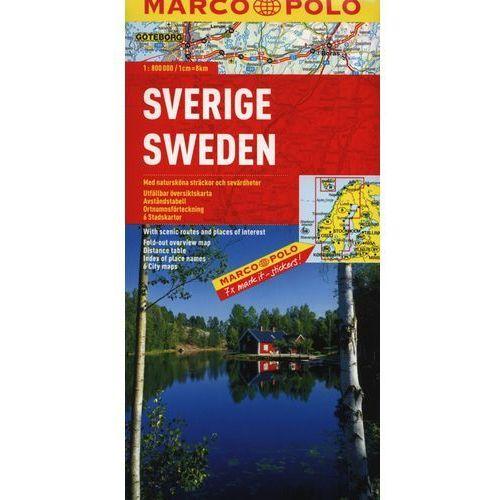 Szwecja. Mapa Marco Polo W Skali 1:800 000 (9783829738705)