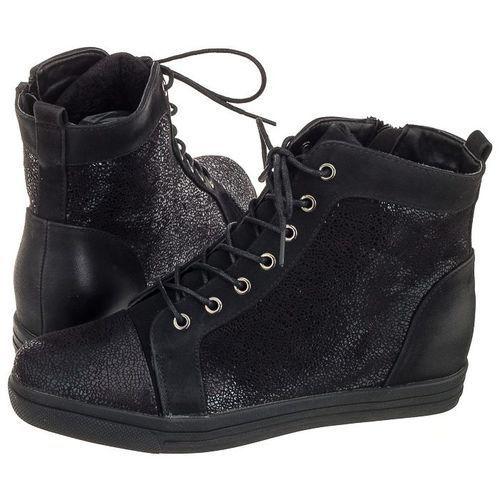 Sergio leone Sneakersy czarne/srebrne 33192 (sl160-a)