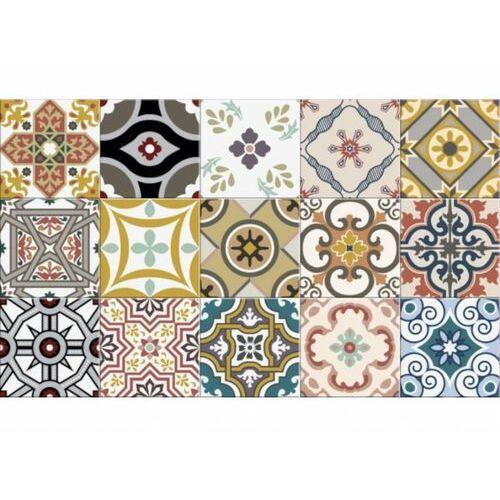 Winylowy chodnik kuchenny rica z motywem cementowych płytek – 49,5 × 83 cm – wielokolorowy marki Vente-unique