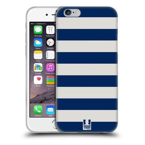 Etui silikonowe na telefon - Paski Białe i Niebieskie, kolor niebieski