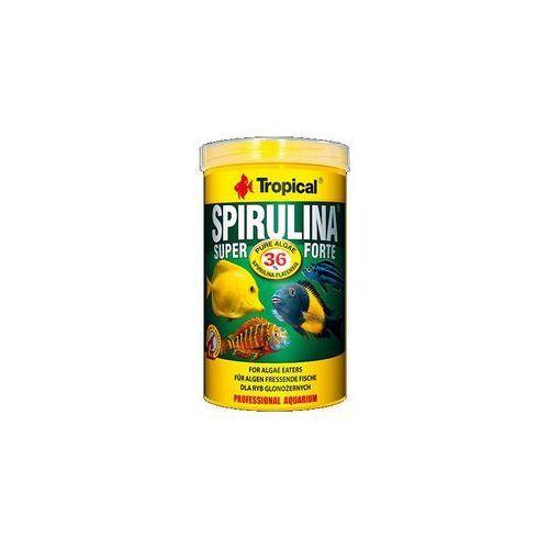 super spirulina forte 36% - pokarm roślinny dla rybek w płatkach 21l/4kg marki Tropical